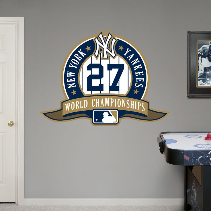 New York Yankees 27th World Series Logo REAL.BIG. Fathead Wall Graphic | New