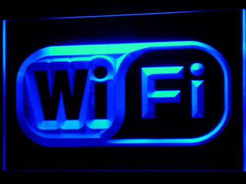 Wi Fi Logo Free Internet Services Light Sign
