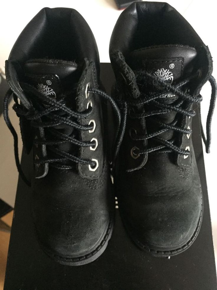 Timberland Boots For Boys Toddlers 7.5 Black With Laces #Timberland #Boots