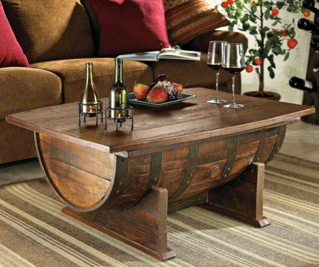 Perfect Barrel Table Also End Table Turn Barrel Half Upright, Add Back And Inside  Shelf
