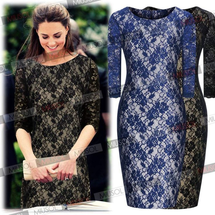 Women's Formal Lace Vintage Cocktail Evening Party Bodycon Dresses Size 4681024 #Miusol #StretchBodycon #Formal