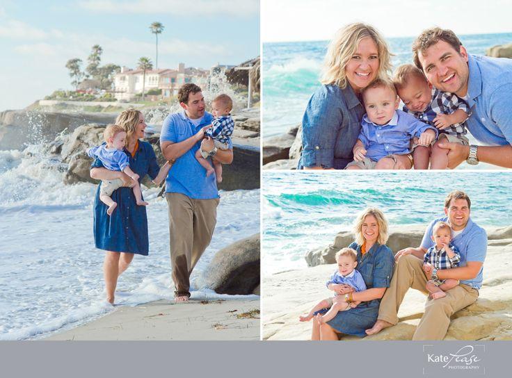 Beach Family Photos with twin boys  Kate Pease Photography