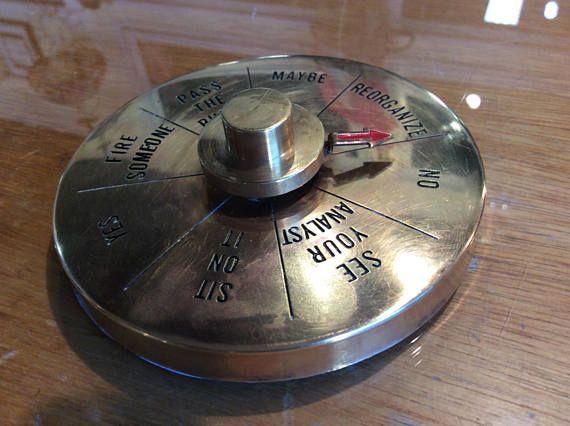 Executive brass dial make descion spinner