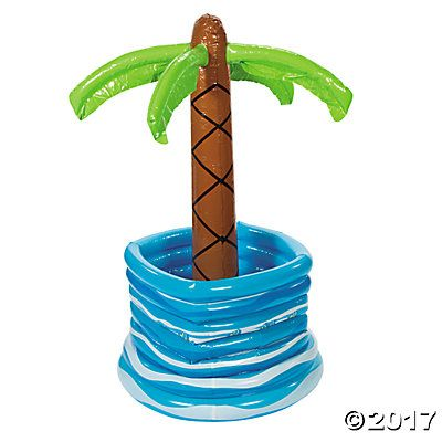 $15.99 - Palm Tree in Pool Inflatable Cooler