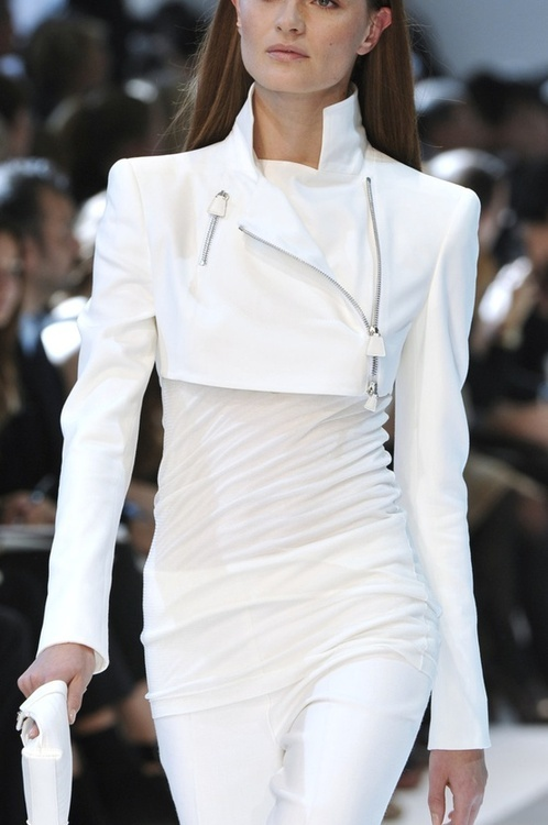 All white...in my native Brazil, this is what you wear on New Years eve, the symbol of peace...Happy 2014!!!#white#fashion