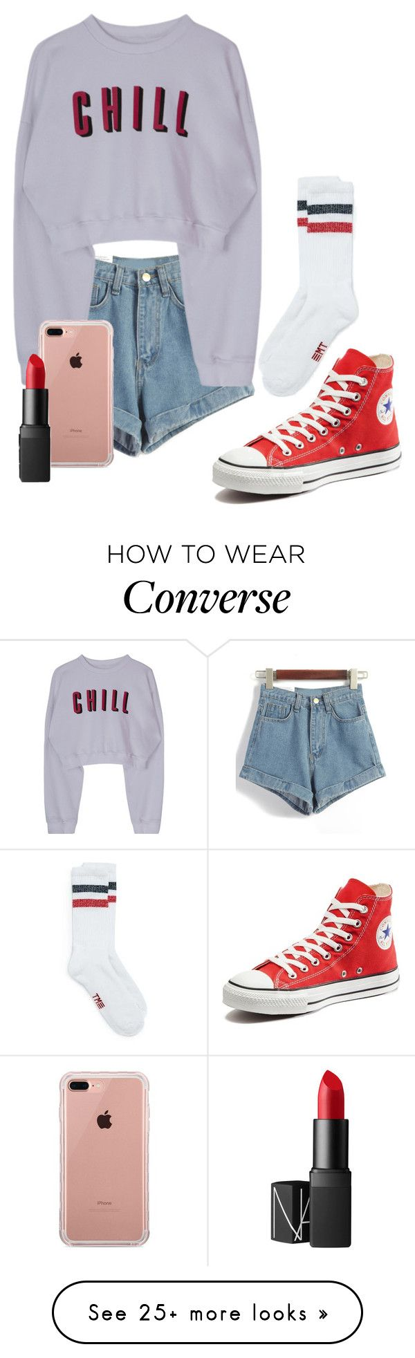 """Untitled #1467"" by penny44224 on Polyvore featuring Converse, Belkin and NARS Cosmetics"