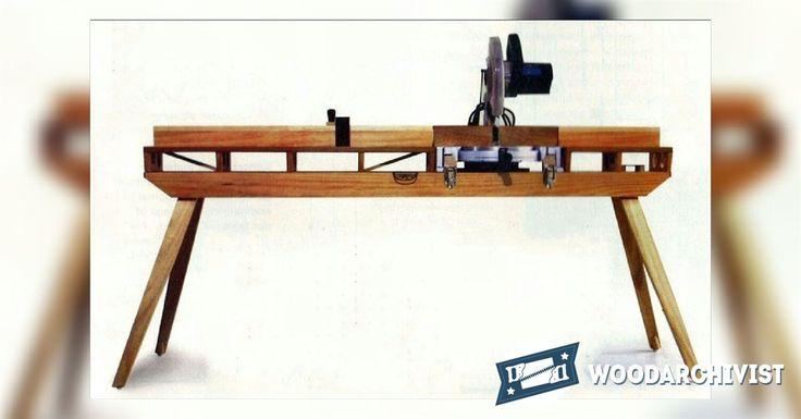 Складной Торцовочная пила стол планы - Торцовочная пила советы, Джигов и приспособлений | WoodArchivist.com