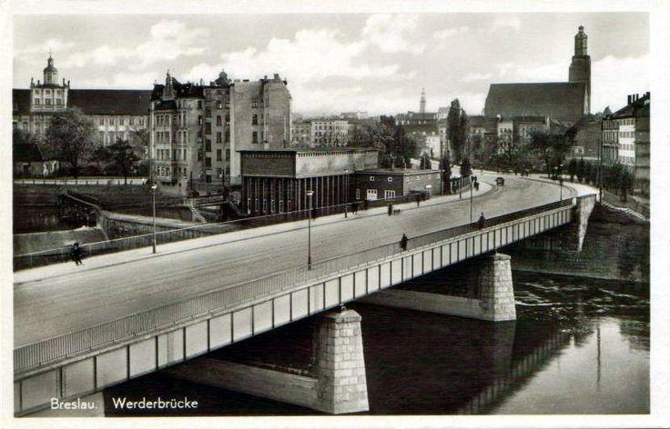 """Most Pomorski Północny oraz widok na elektrownię wodną """"Północną""""1935"""