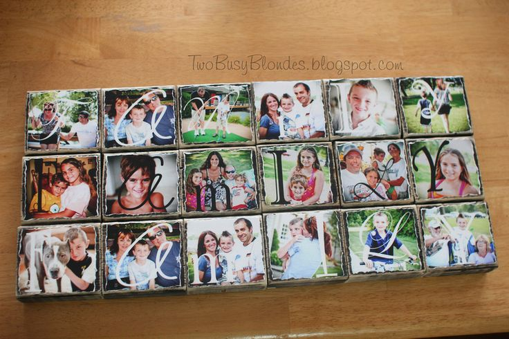 Photo blocks....cool idea.....  TWO BLONDES Enthusiastically Creating and you can kiss our Crafts.