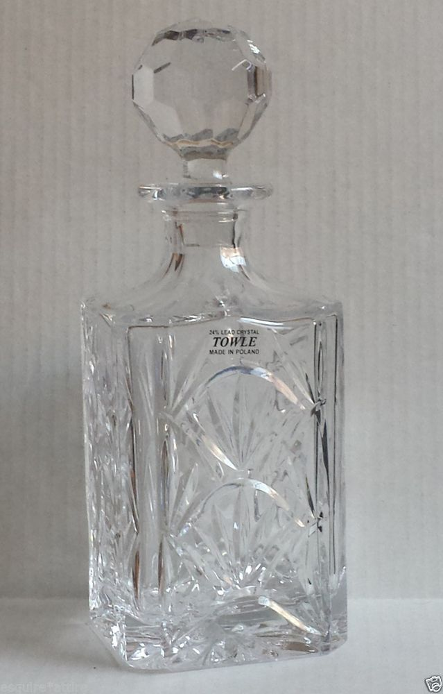 Crystal Whisky Decanter by TOWLE Made in Poland #Collectible   Polish design   Pinterest ...