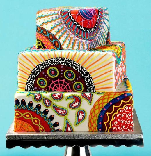 Paisley Cake. eat-drink-be-merry