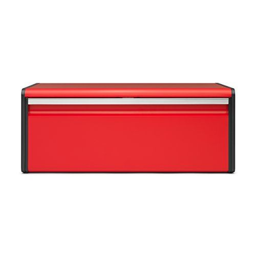 Brabantia Fall Front Bread Bin Breadbox for the Kitchen Metall Passion Red 484025 >>> Want additional info? Click on the image.