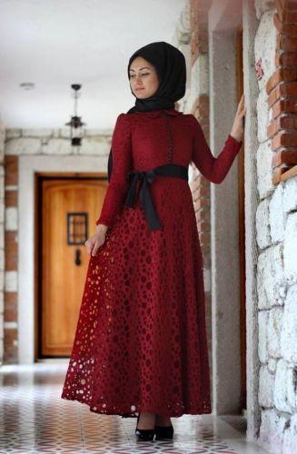 Minel Aşk - Romantik Elbise Bordo