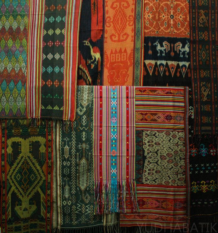 My textiles collection from around NTT (Sumba ikat, pahikung, Timorese Ayutopas, Buna, Futus), all gathered in one frame