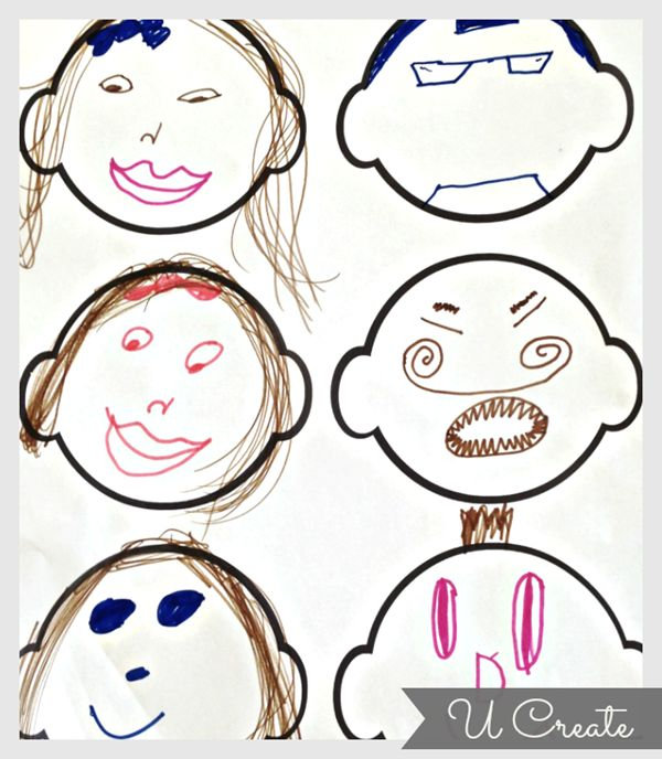 Free Printable Funny Faces keeping the kids busy with imagination fun!