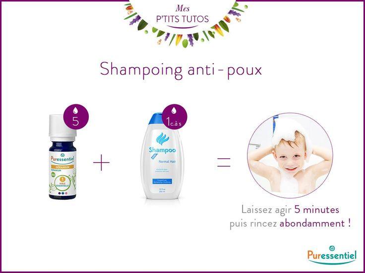 [#PtitTuto] 5 gouttes d'huile essentielle de géranium dans un shampoing neutre. Et tadam ! Un shampoing tout doux pour éliminer les poux à partir de 3 ans !  ► http://bit.ly/NOS_PRODUITS
