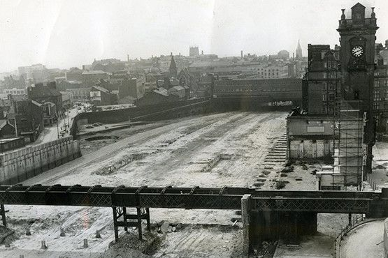 1968. Victoria Station has been levelled and the Victoria Centre's foundations…