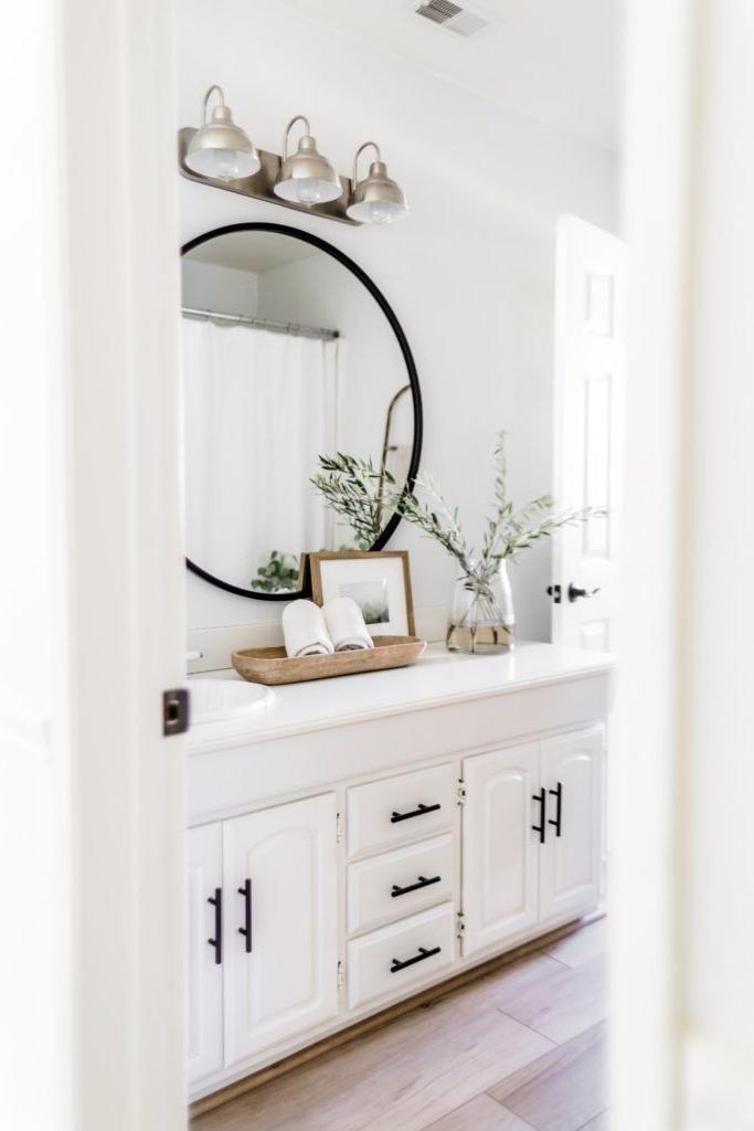 Victorian Home Interior Victorian Home Interior In 2020 Transitional Bathroom Design White Vanity Bathroom Guest Bathroom Renovation