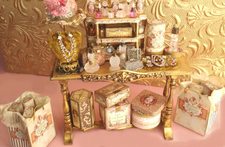 Purses, perfumes and jewelry
