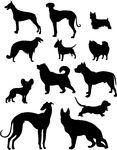 Perros siluetas almacen de fotos e imágenes