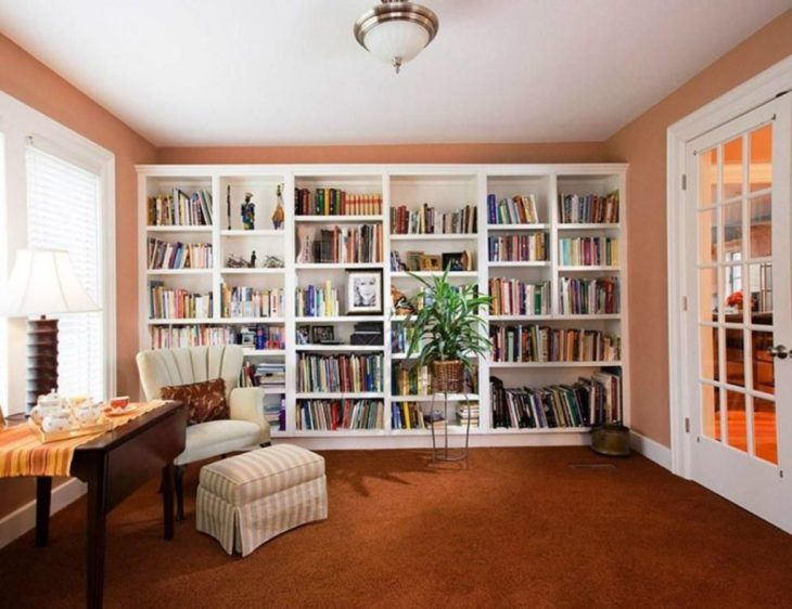 25 Cozy Small Home Library Design Ideas That Will Blow Your Mind In 2020 Home Library Design Small Home Libraries Home Library
