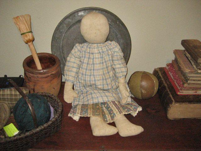 Early Primitive Cloth Stuffed Doll.....