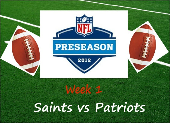 Saints vs Patriots Live Streaming is available on NFL Stream TV. To watch NFL Preseason 2012 game Saints vs Patriots all you have to do is signup and you will be watching this game of Redskins vs Buffalo Bills live on your computer screen.
