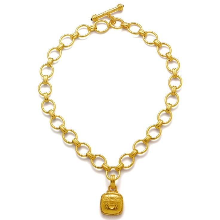 elizabeth locke gold fat bee pendant veranda jewelry
