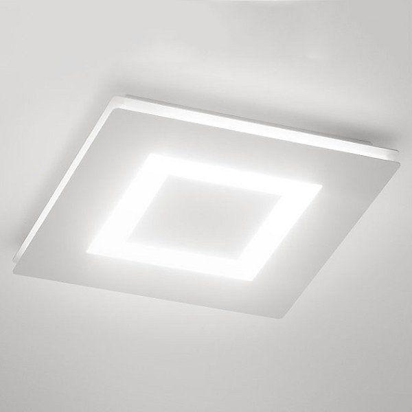 Flat Led Flush Mount Ceiling Light By Zaneen Design Color White