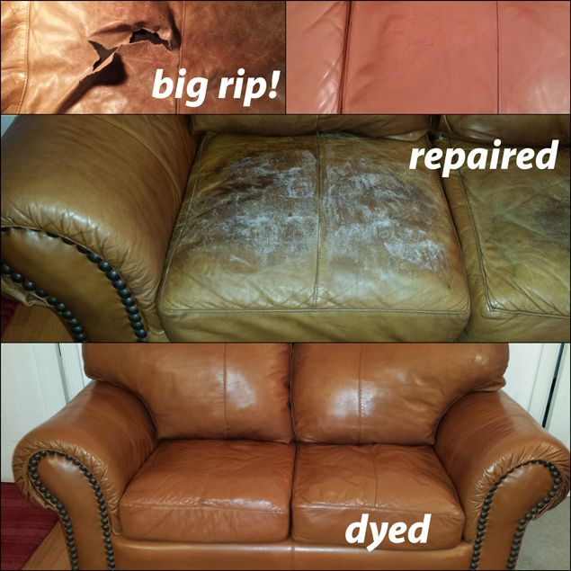 Rust Vinyl Leather Finish Leather Repair Leather Restoration