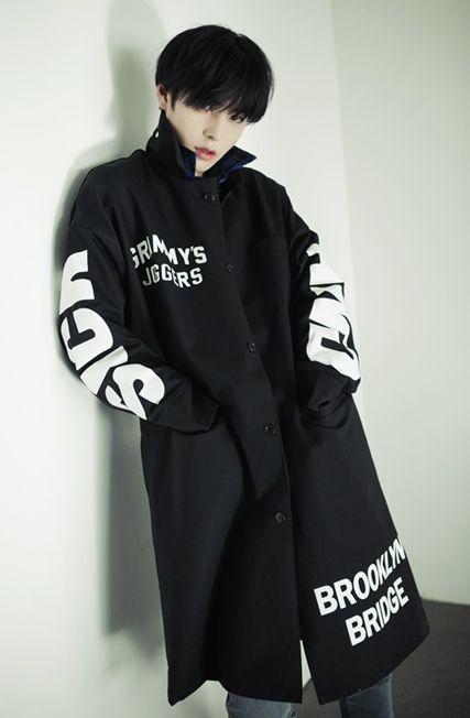 Ulzzang Style, Pretty Boys, Males, Guys, Black Coat