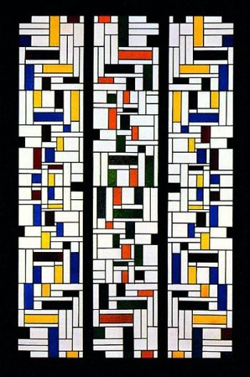 Theo van Doesburg Stained-Glass Composition IV