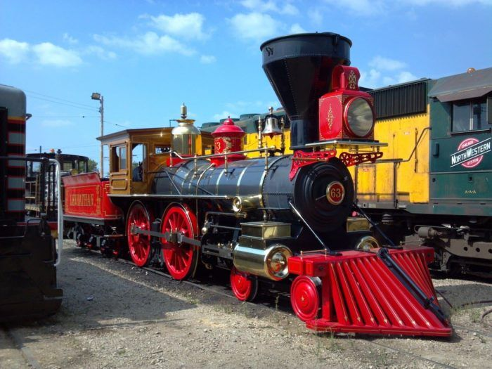 As the largest train museum in America, it features steam trains, diesel trains, trolleys, and much more.