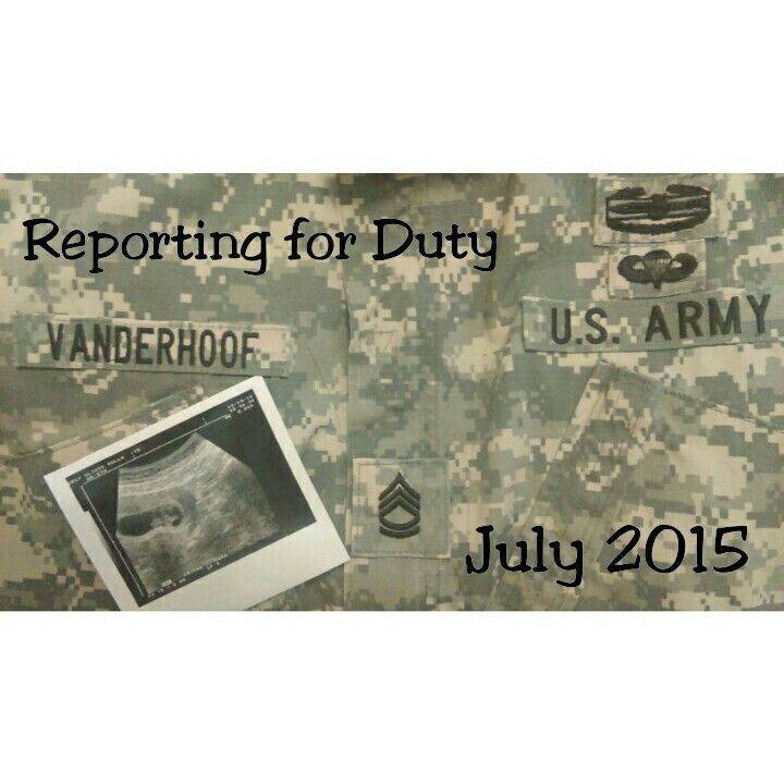 Pregnancy announcement military