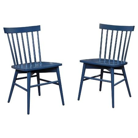 Windsor Dining Chair (Set of 2) - Threshold™ : Target in 'Navy.'  Reg. $149.99; Sale Price is $127.49