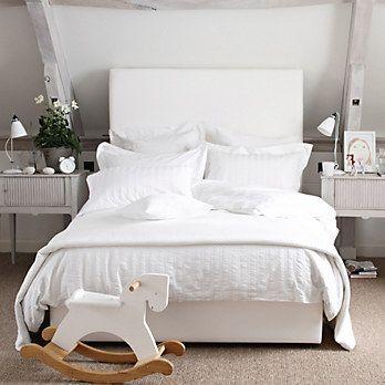 White Company bedding.