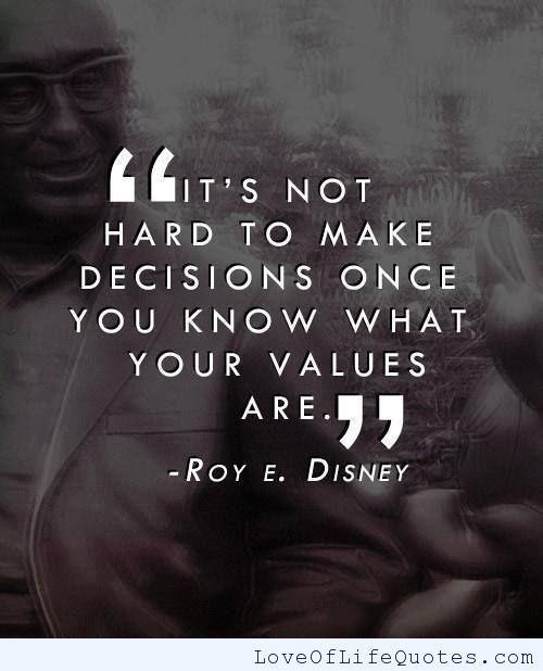 Roy E. Disney quote on decisions - http://www.loveoflifequotes.com/uncategorized/roy-e-disney-quote-decisions/