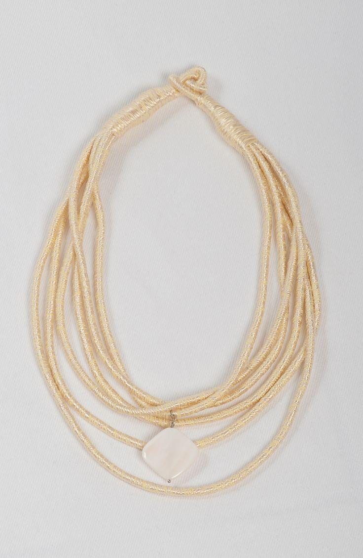 Joy - beige silk necklace from http://stylewise.gr/