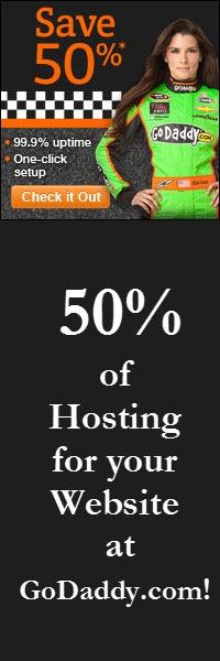 """50% of Hosting for your Website at GoDaddy.com!"""