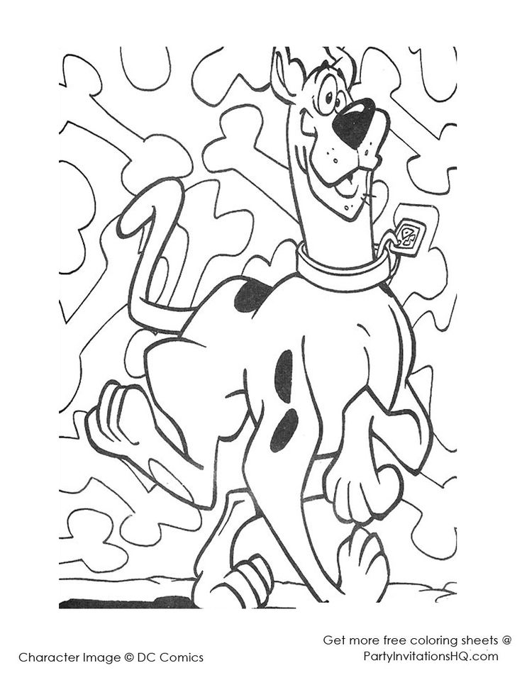 scooby doo coloring pages for kids google search