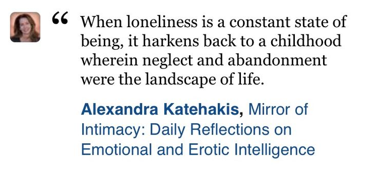 Chronic loneliness links back to childhood neglect and abandonment