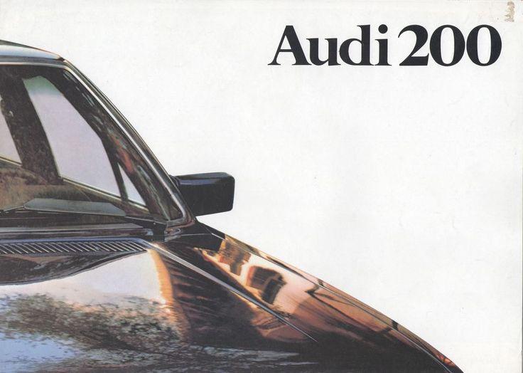 AUDI - 200 brochure/folder Dutch 1979