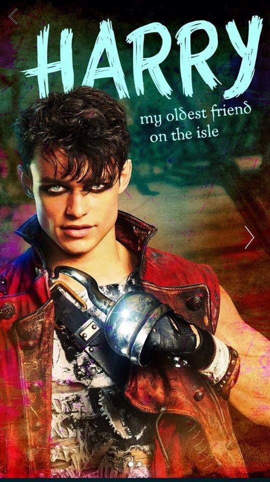 Thomas Doherty as Harry the son of Captain Hook in Descendants 2------>That's a lot of eyeliner