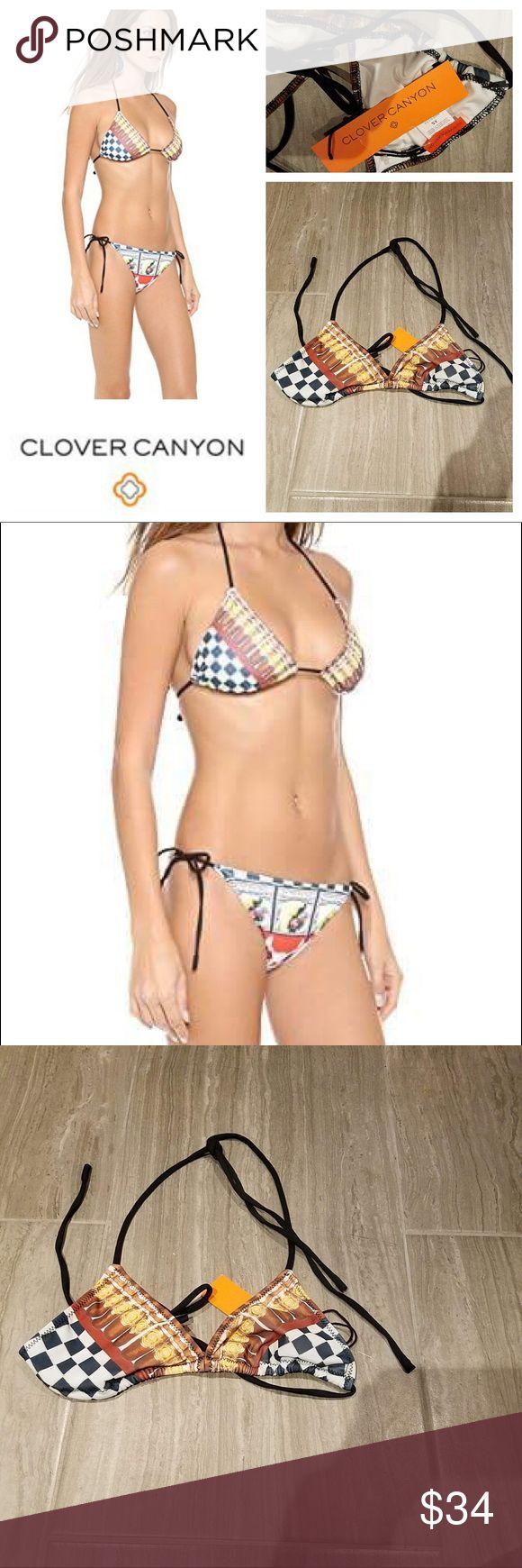 NWT $98 CLOVER CANYON CUBAN Cigar Bikini Top Brand New with Tags. Retails for $98. Size XS Clover Canyon Swim Bikinis