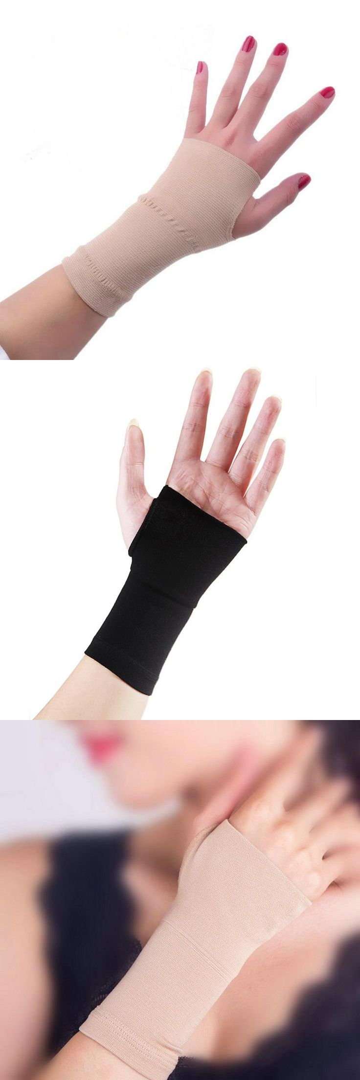 [Visit to Buy] 2 Pcs Men Women Elastic breathable Wrist Support Relief Prevent arthritis Basketball Tenis Volleyball Fitness Gloves Wristband #Advertisement
