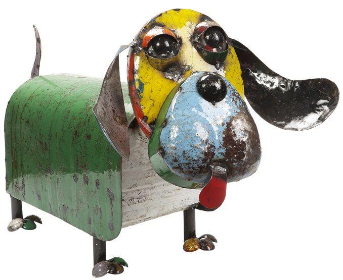 garden ornaments animals dogs. eeieeio metal animal hound dog garden art sculpture from earth homewares ornaments animals dogs