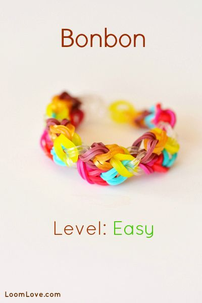 How to Make the Bonbon  #kids #crafts #stretchband #loopband #loombracelet
