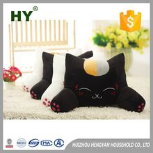 Digital embroidery 100% Polyester cotton wholesale pillow cases cart emoji pillow cat pillow