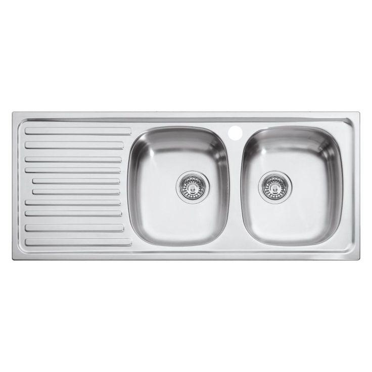 Eurodomo Inset Sink 2 Bowl - Masters Home Improvement - $205.00