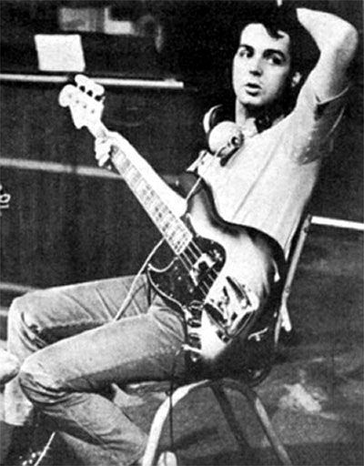 Paul McCartney and his Fender jazz bass